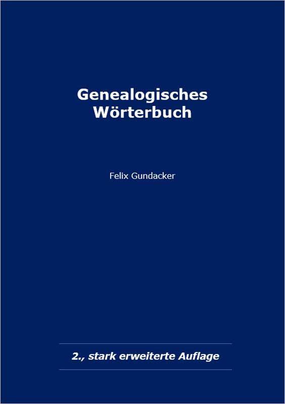 Cover Genealogisches Wörterbuch