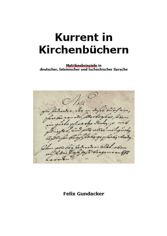 Cover Kurrent in Kirchenbüchern